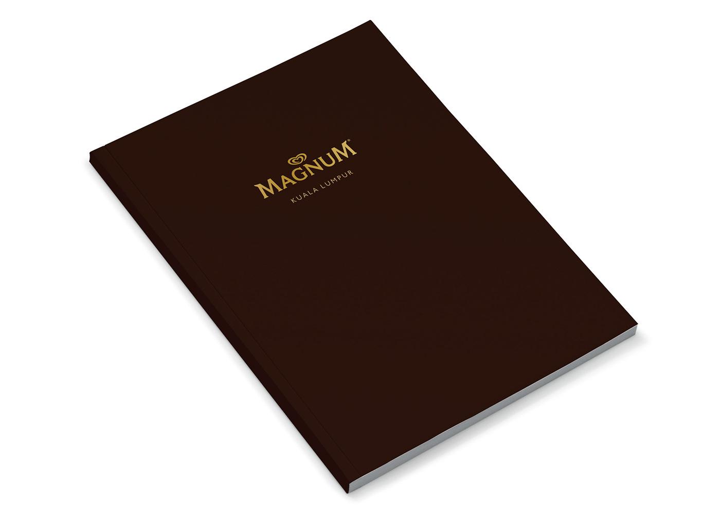 Magnum Pleasure Store menu design cover.