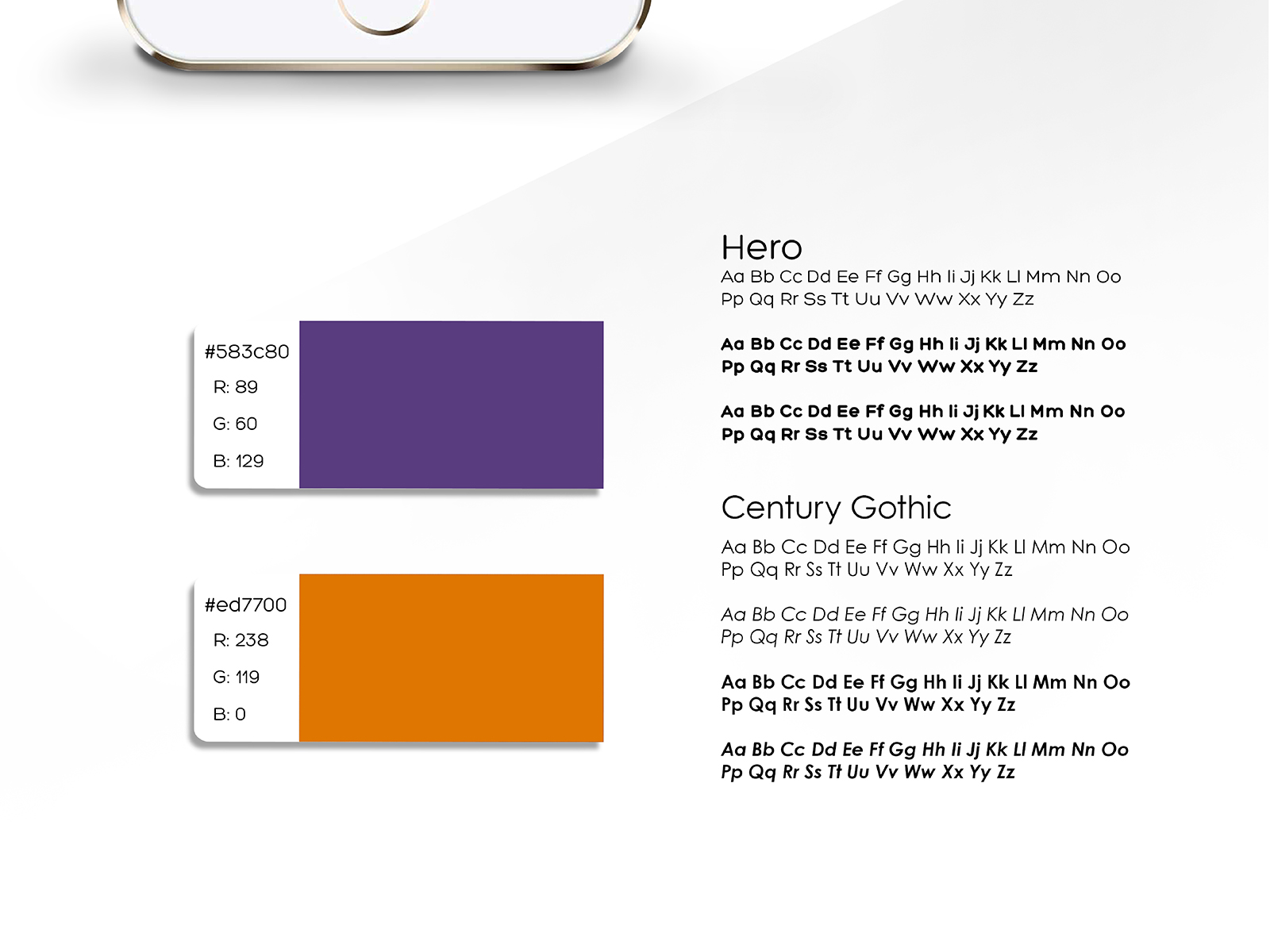 Xpax brand colour codes and values alongside their corporate fonts