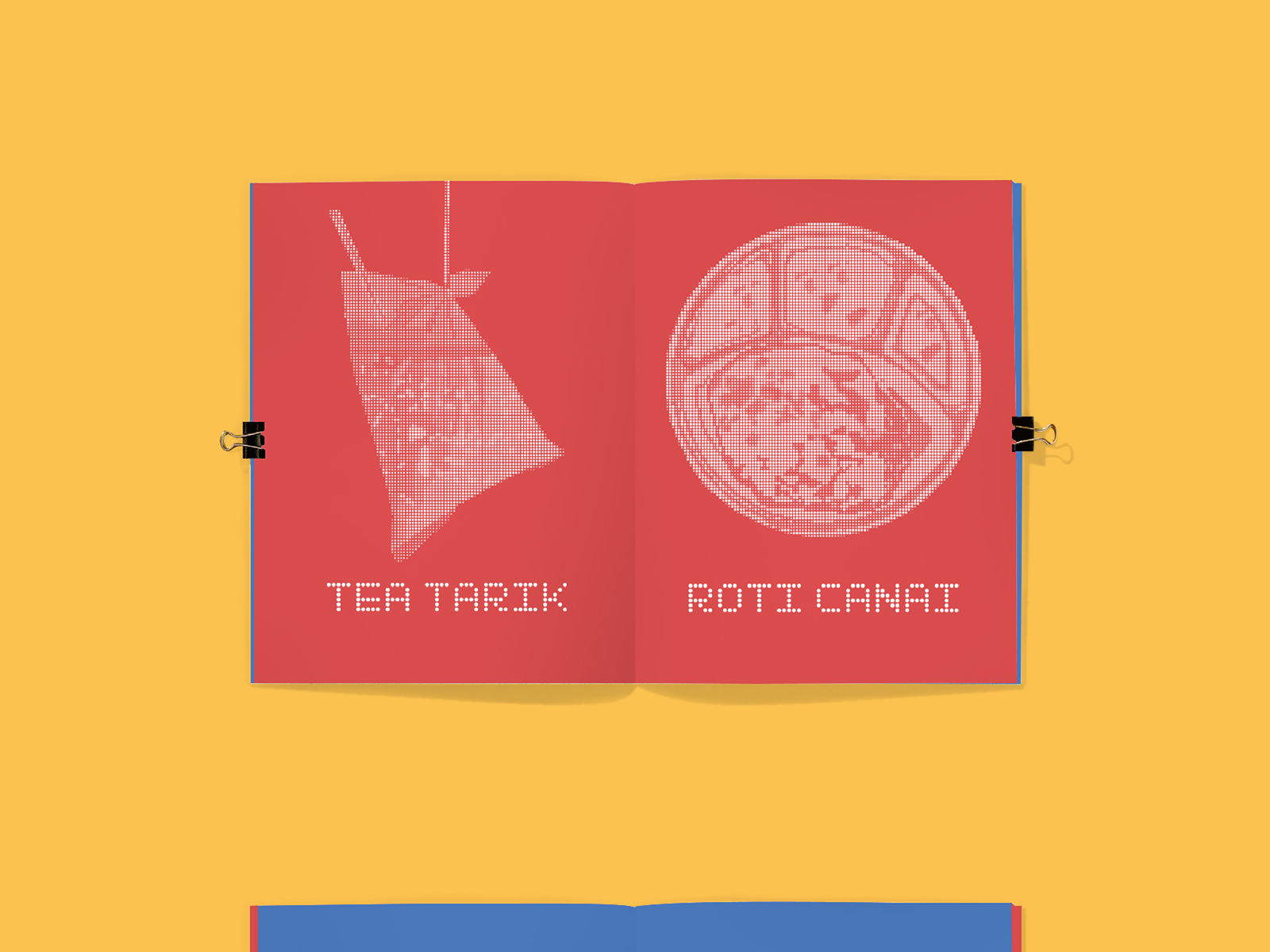 Grindz brand illustration used in social media management showing tea tarik and roti canai