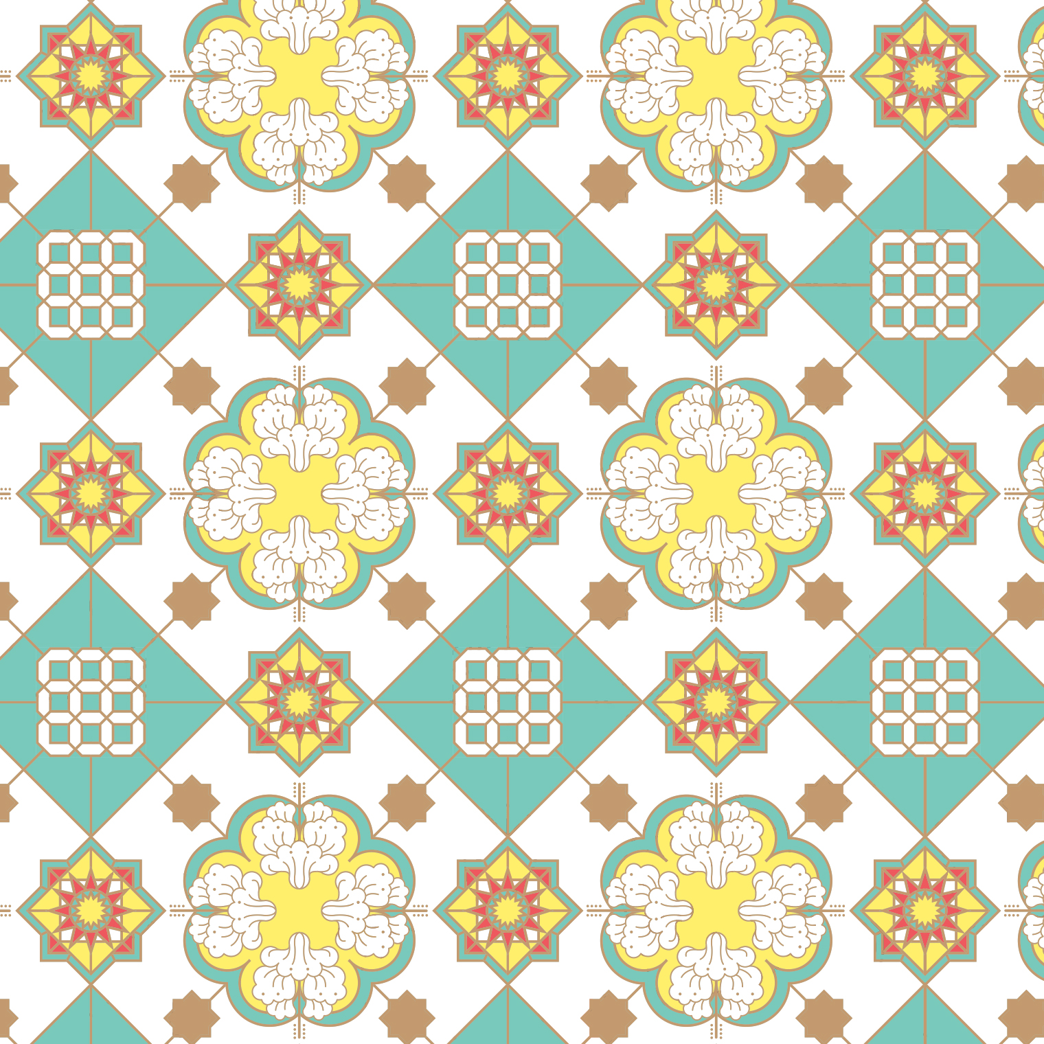 Kuey Moi illustration pattern design