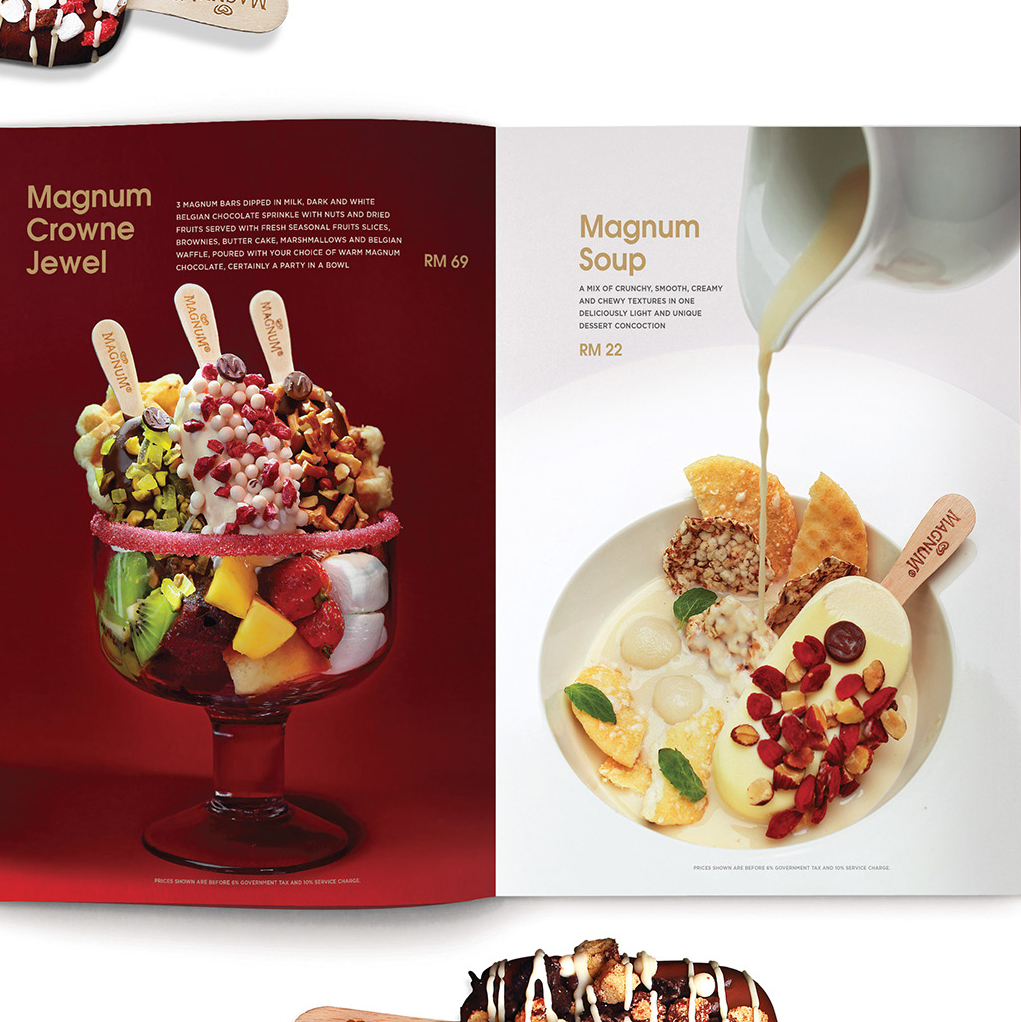 Magnum Please Store menu food styling and photography
