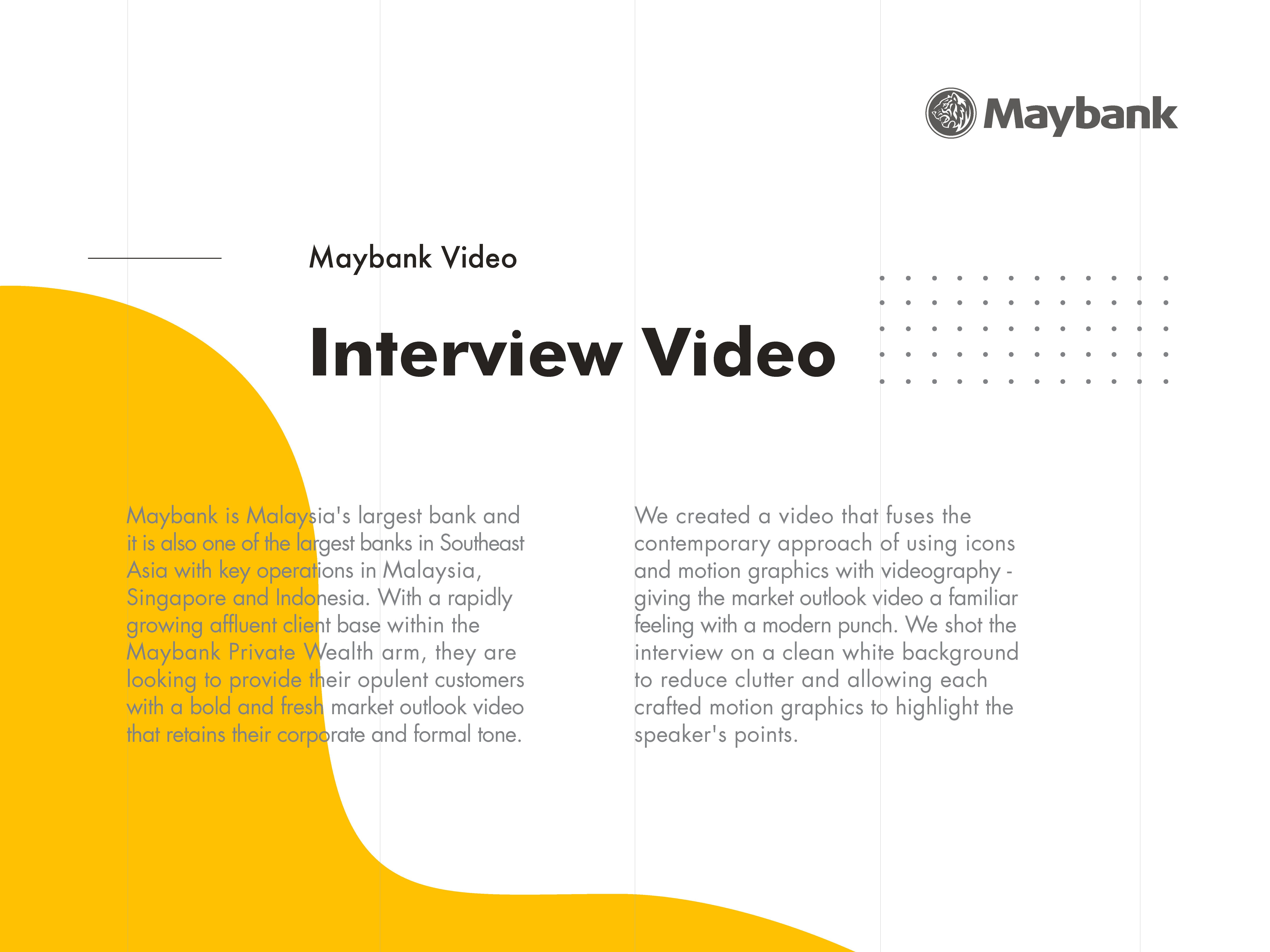Maybank Premier Wealth market outlook interview video description of what we produced