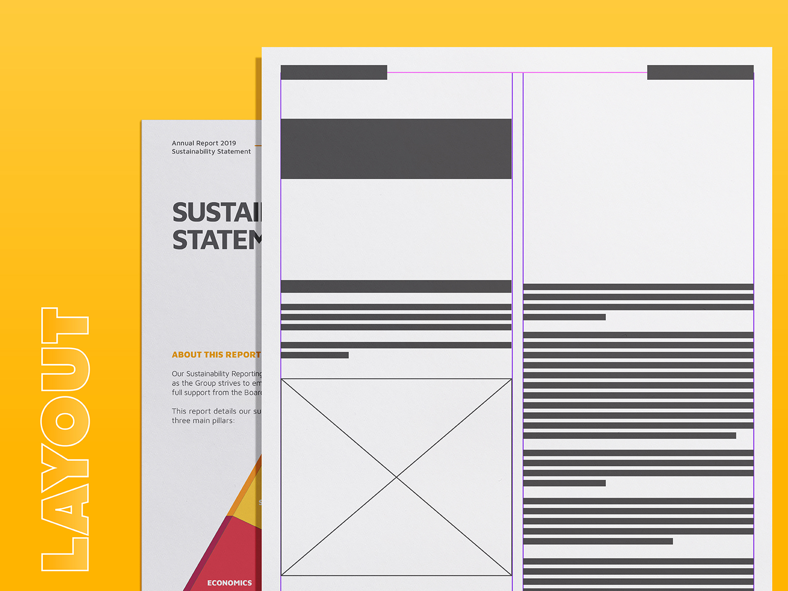 Plenitude annual report 2019 inner page layout design grid