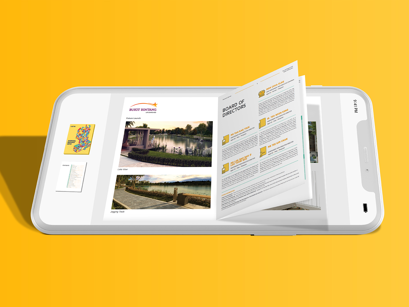Plenitude annual report 2019 digital version showing inner page layout and icon design