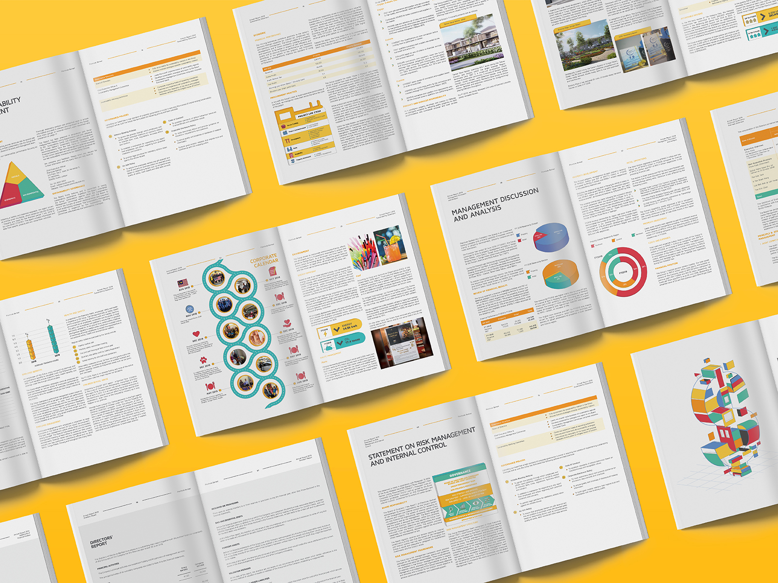 Plenitude annual report 2019 inner page layout designs spread