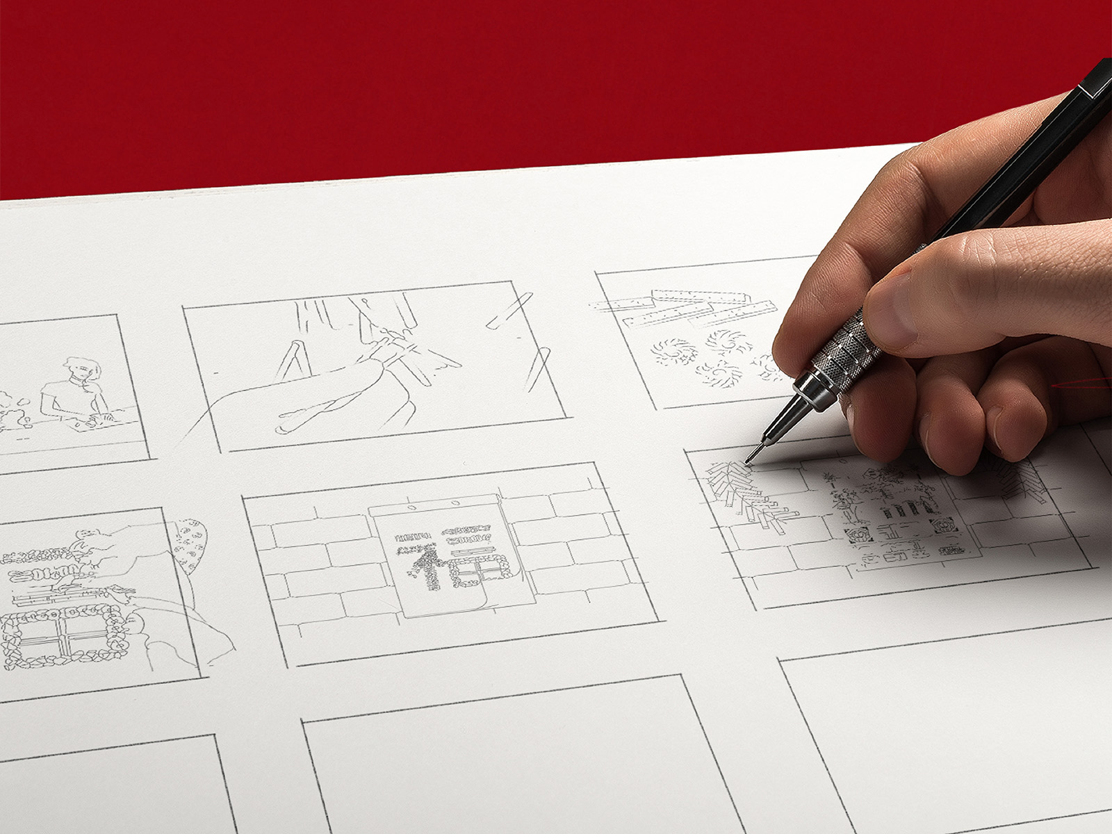 Sime Darby Chinese New Year 2020 campaign animated festive video storyboard development