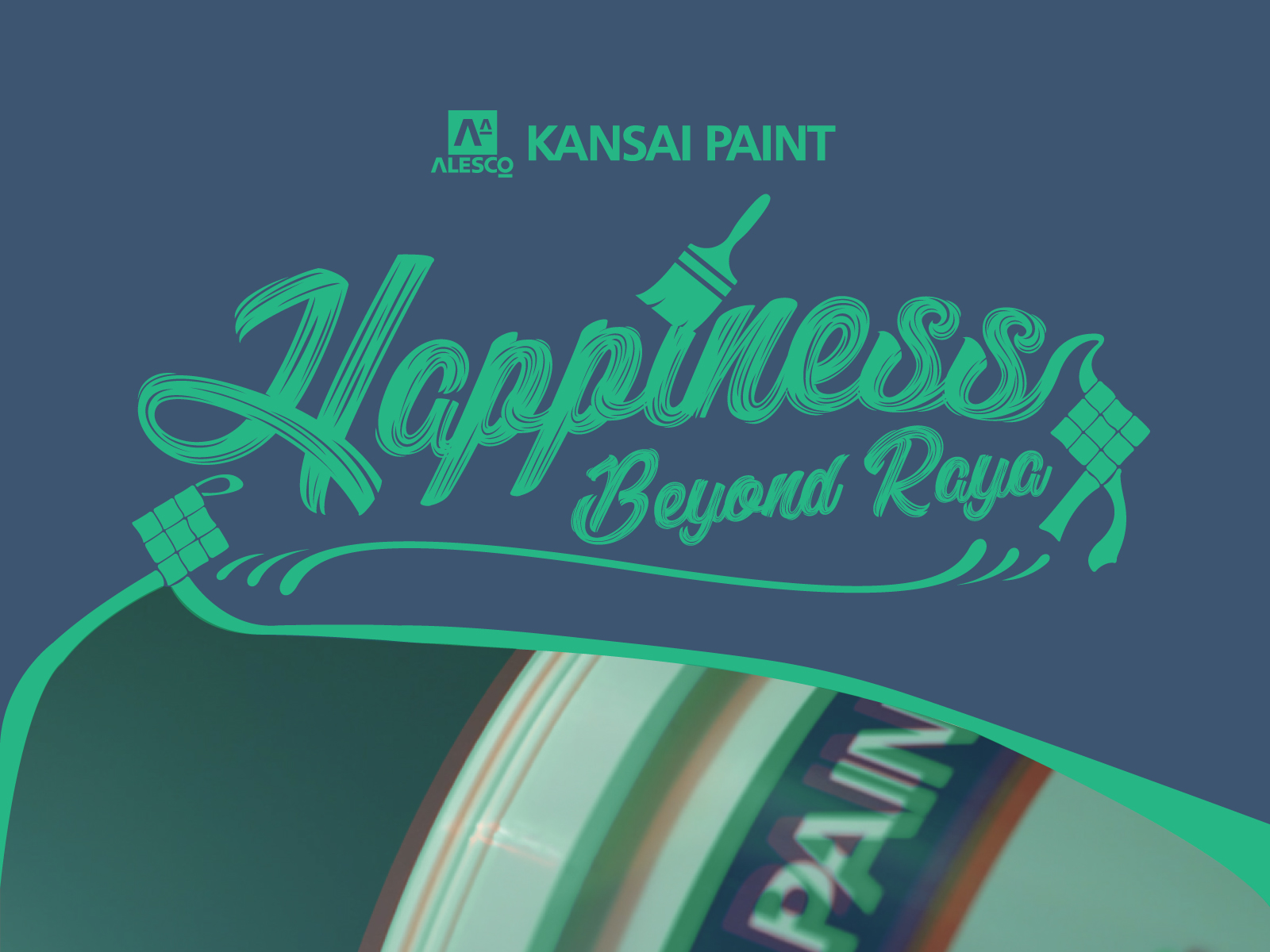 Kansai Paint Happiness Beyond Raya video development cover with masthead design