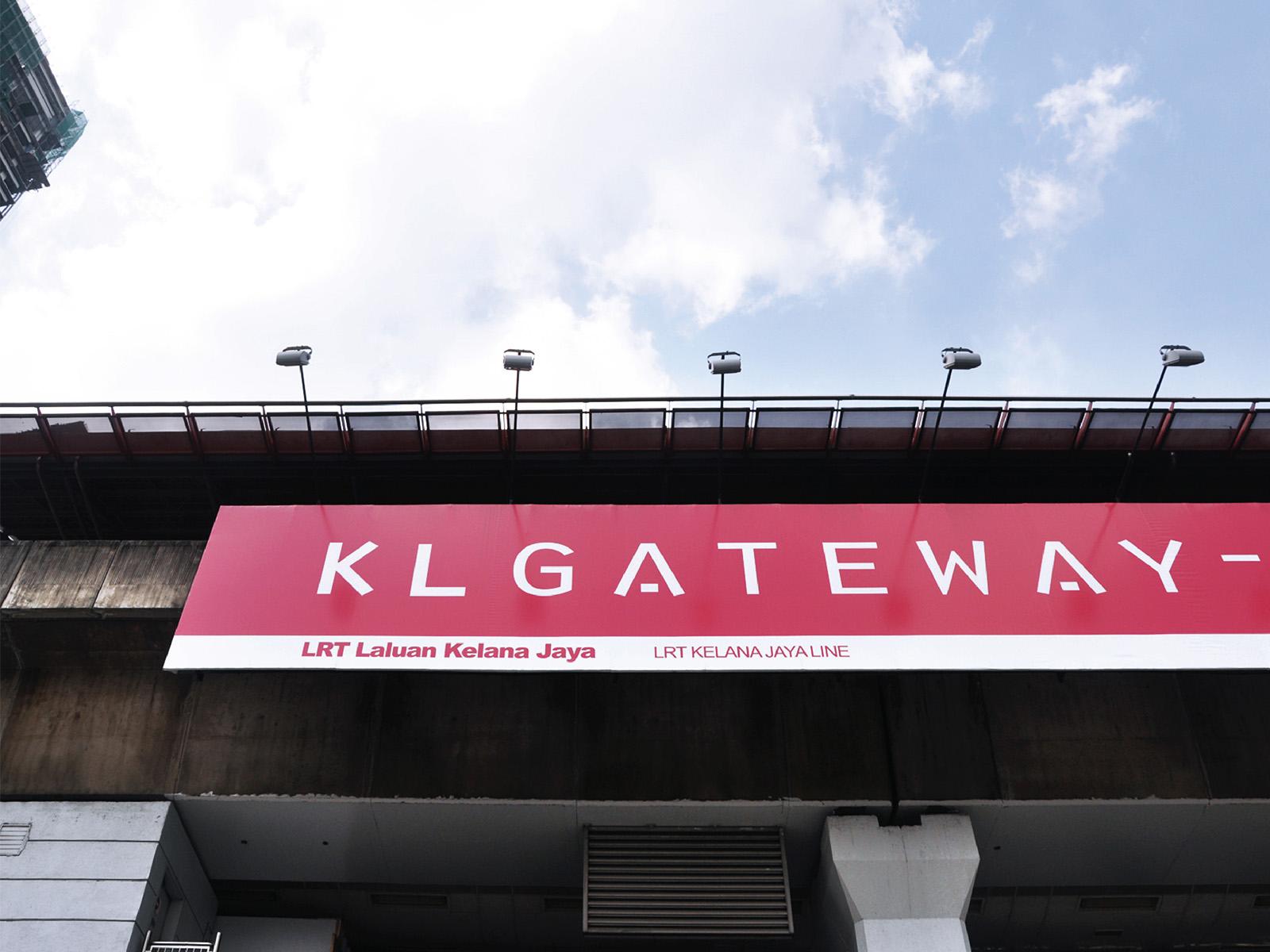 KL Gateway by Suezcap train station brand advertisement takeover and name change to KL Gateway - Universiti signage