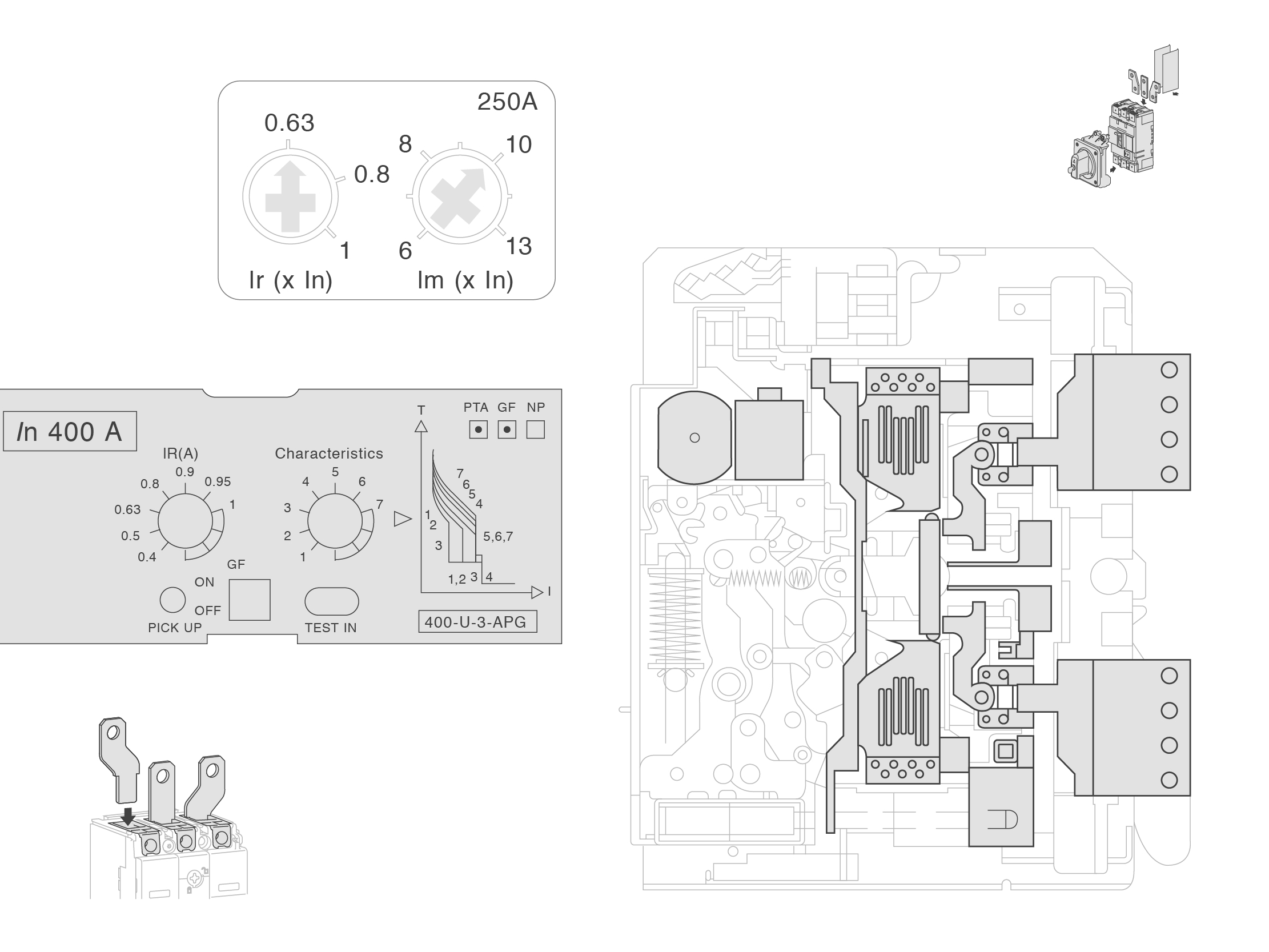 Terasaki Electric company profile technical drawing and product illustration