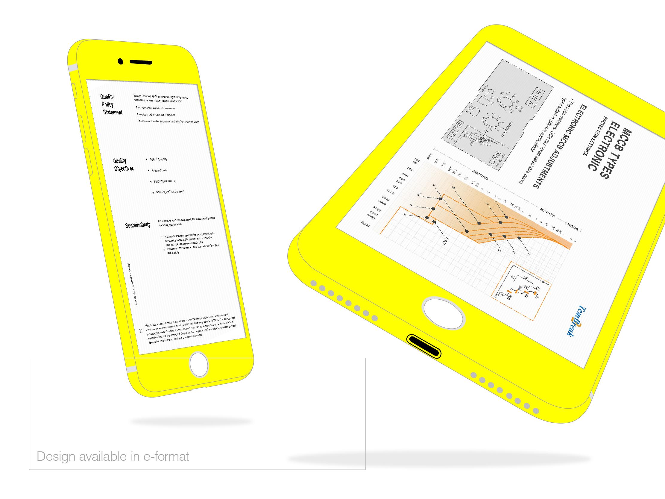 Terasaki Electric digital version of the company profile mobile view