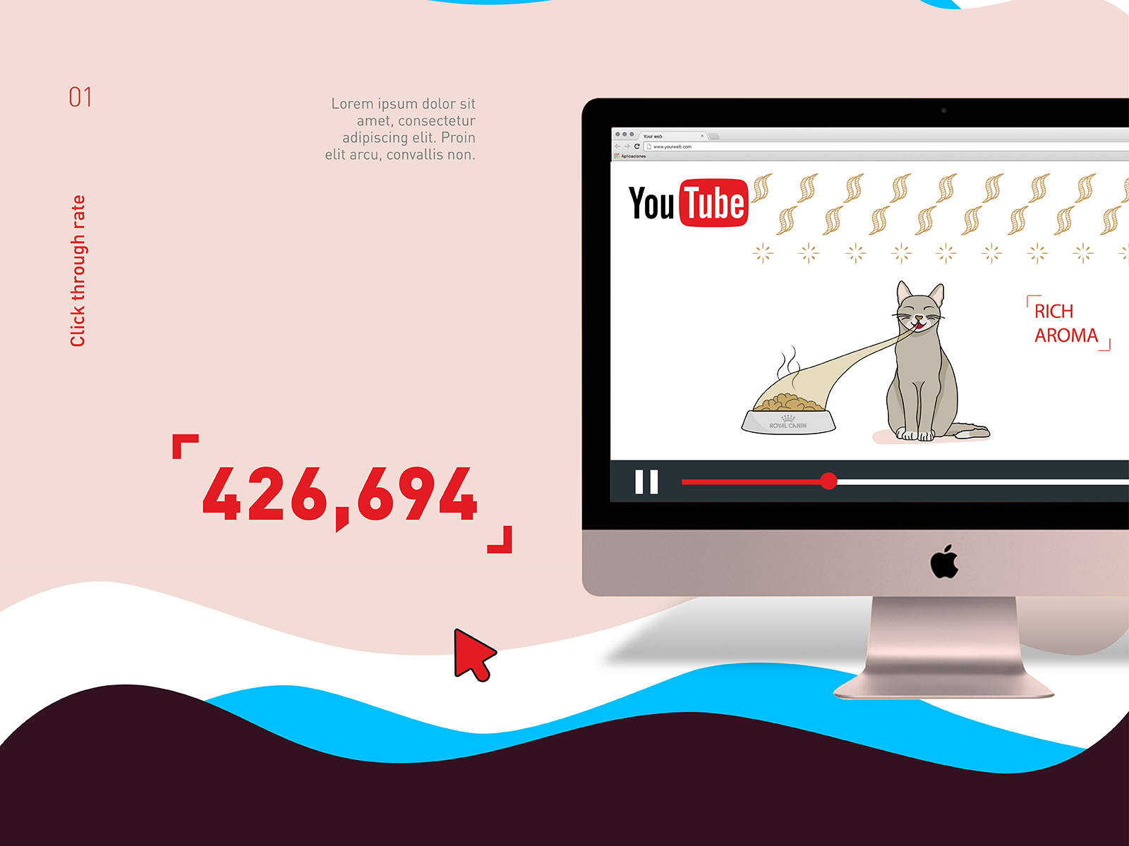 Royal Canin wet food promotional video views with ad buy was at 400,000 at the time of upload and climbing