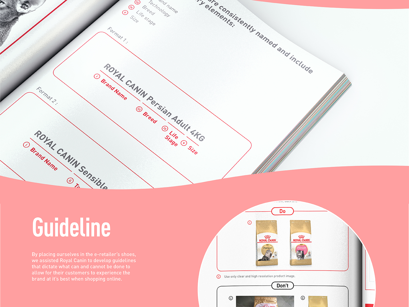 Royal Canin digital CI extension booklet inner page guides online retailers the ideal way of indicating their products online